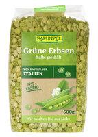 Grüne Erbsen halb, geschält