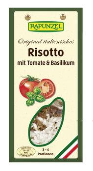 Original italienisches Risotto mit Tomaten und Bas