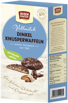Dinkel-Knusper-Waffeln Vollmilch mit Mandeln