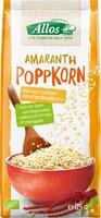 Amaranth-Poppkorn, ohne Honig