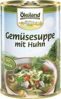 Bio-Gemüsesuppe mit Geflügel (Dose)
