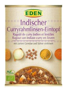 Indischer Curryrahmlinsen Topf
