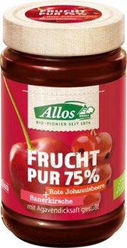 Frucht Pur Sauerkirsche Rote Johannisbeere