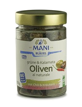 Oliven mit Chili und Kräutern
